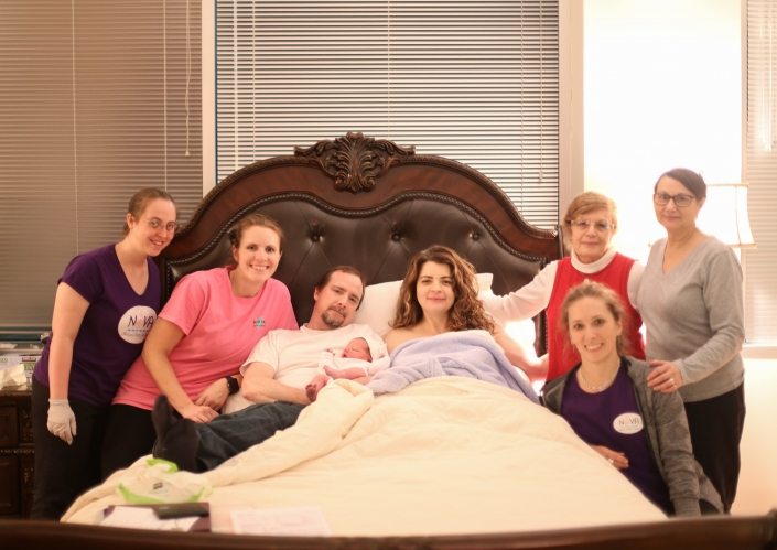 Doula Jenn supports births at Premier Birth Center or at home